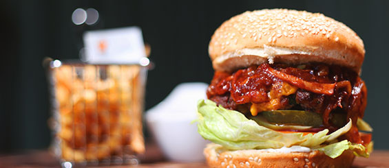 Red Angus menu: Smokey BBQ Bacon Burger