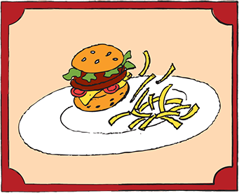Kids Menu: Burger Surprise
