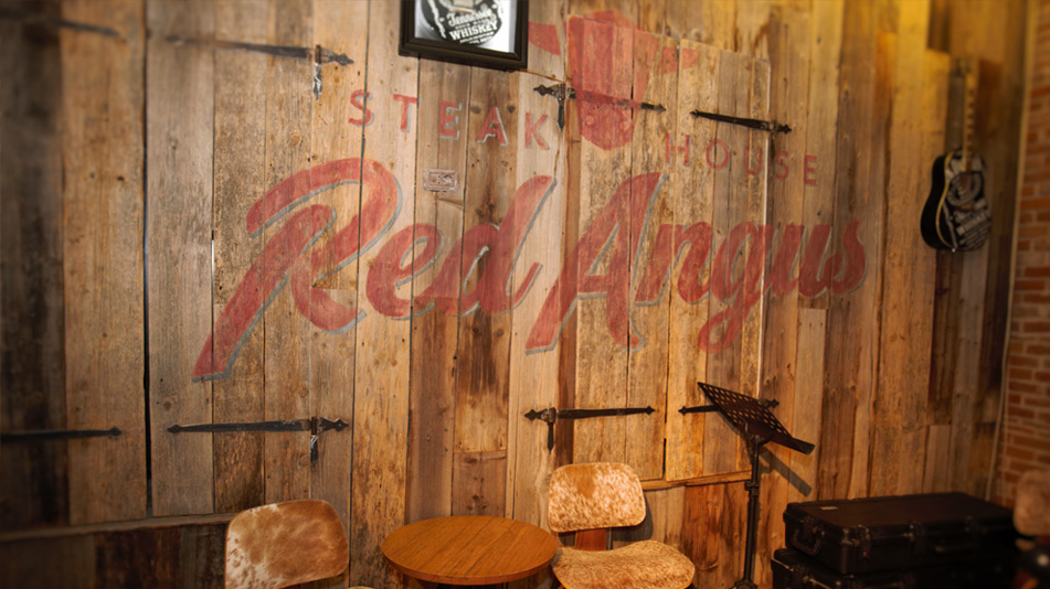 The Red Angus Steakhouse interior